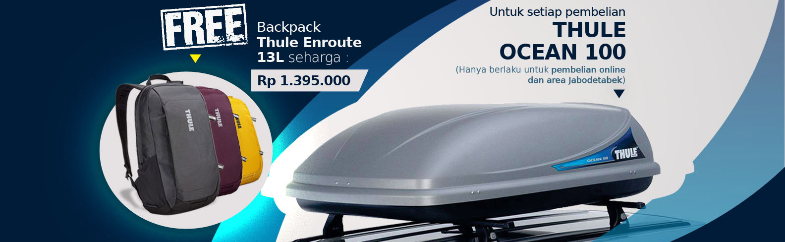 Buy Thule Ocean 100 Get FREE Enroute 13L Backpack