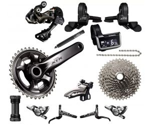 Shimano Groupset Sepeda XTR Di2 External 9020 2x11 Speed Direct Mount