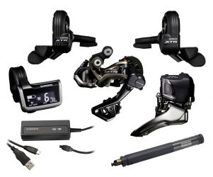 Shimano Kit Set Sepeda XTR Di2 Double External without Adapter