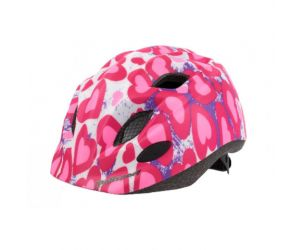 Polisport Glitter Hearts Kids Bike Helmet with Bottle