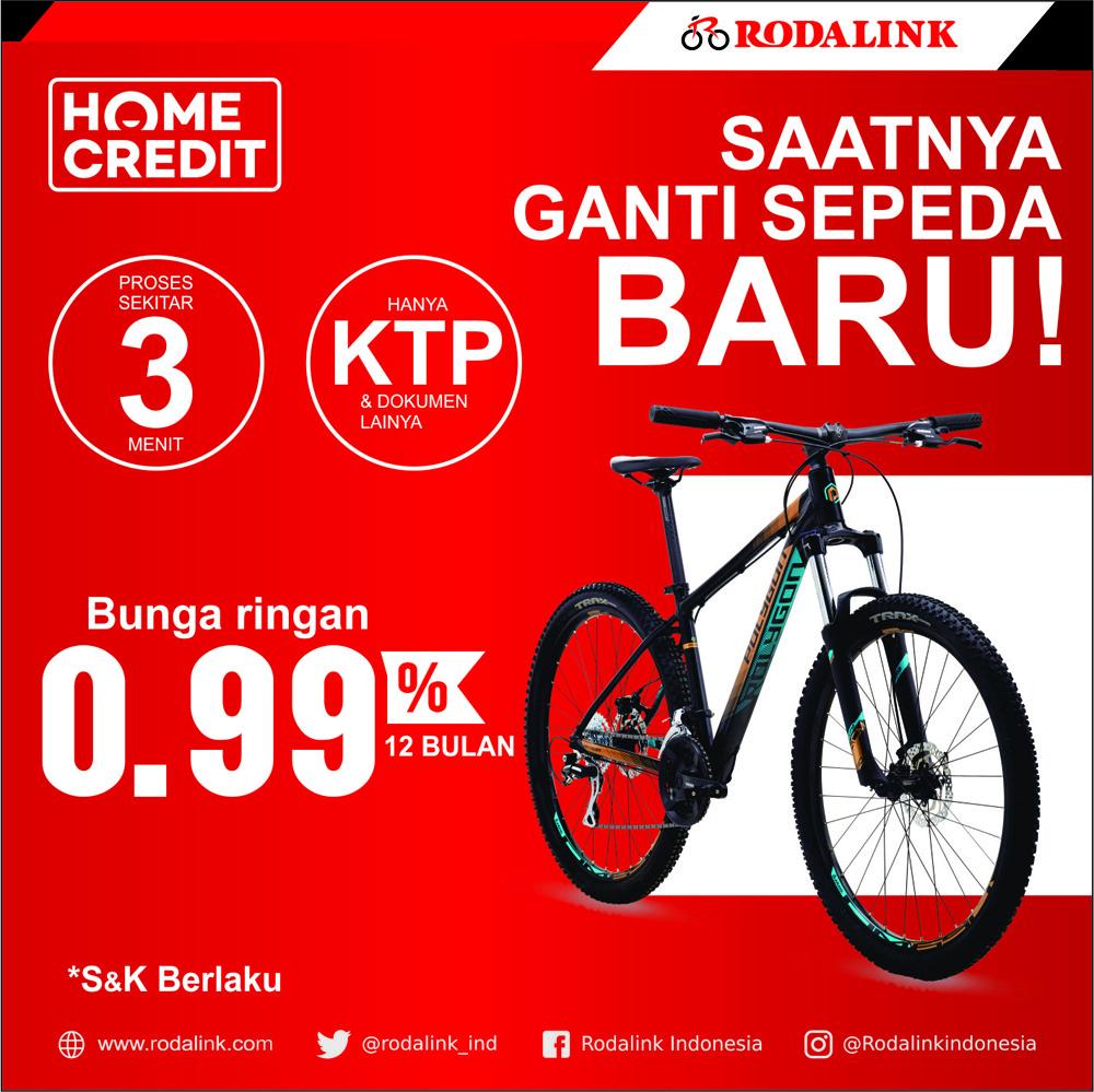 Beli Sepeda Promo Cicilan 0% & 0,99% di Rodalink
