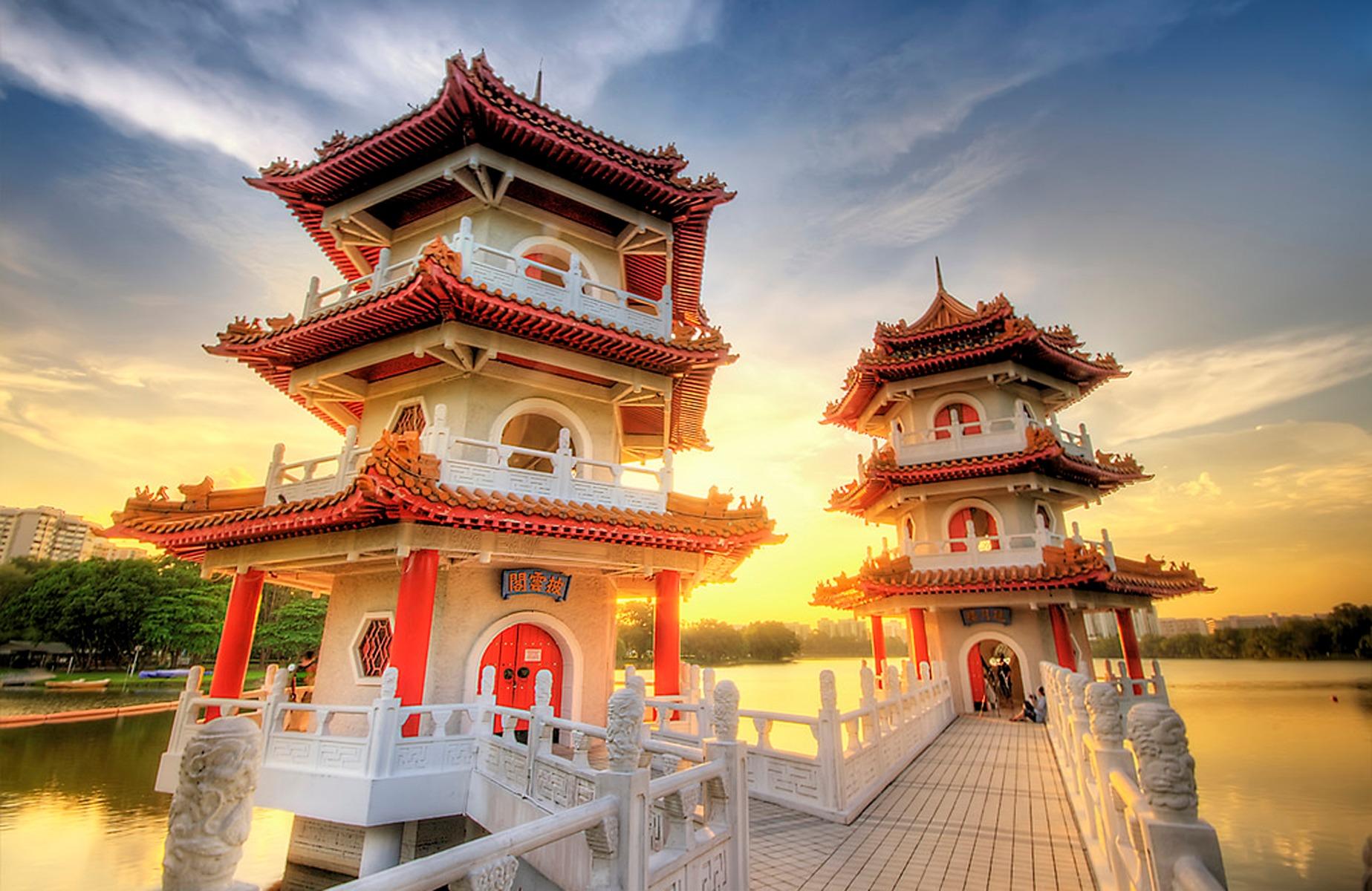 Twin Pagoda Chinese Garden