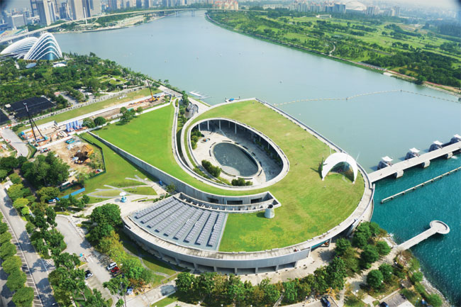 Marina Barrage From Above