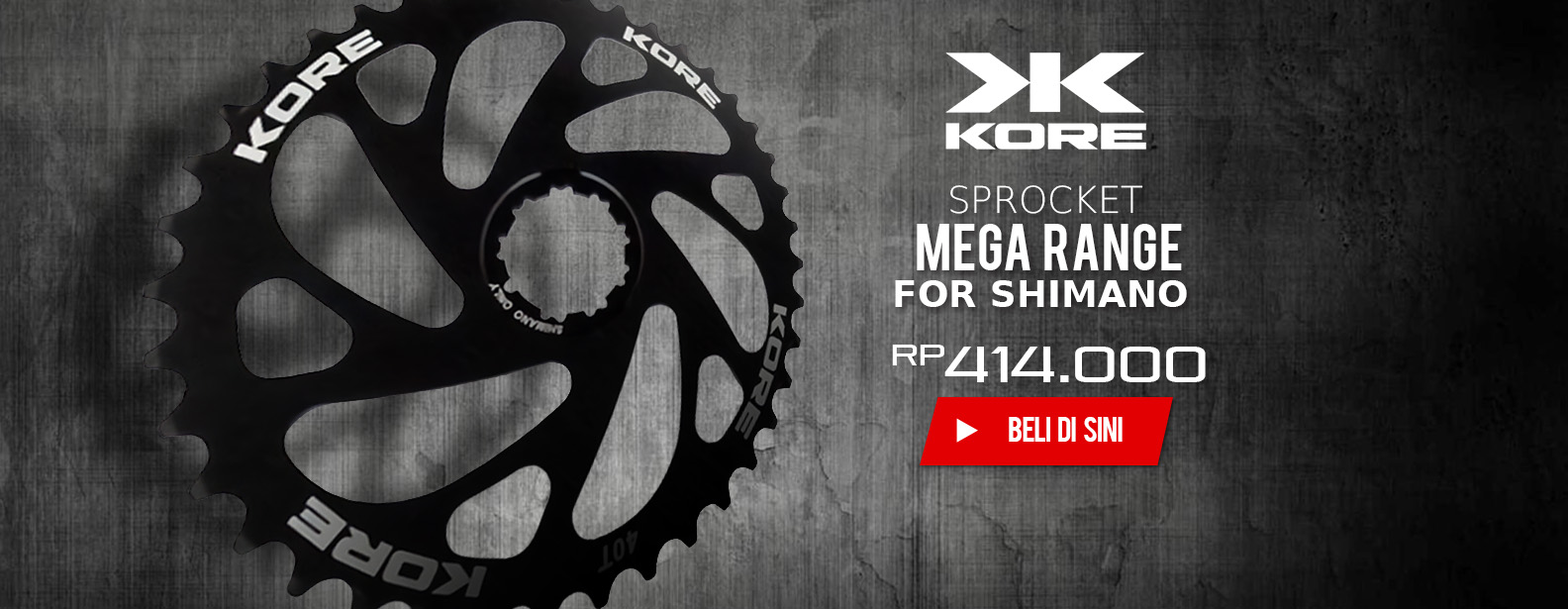 Kore Sprocket Sepeda Mega Range for Shimano