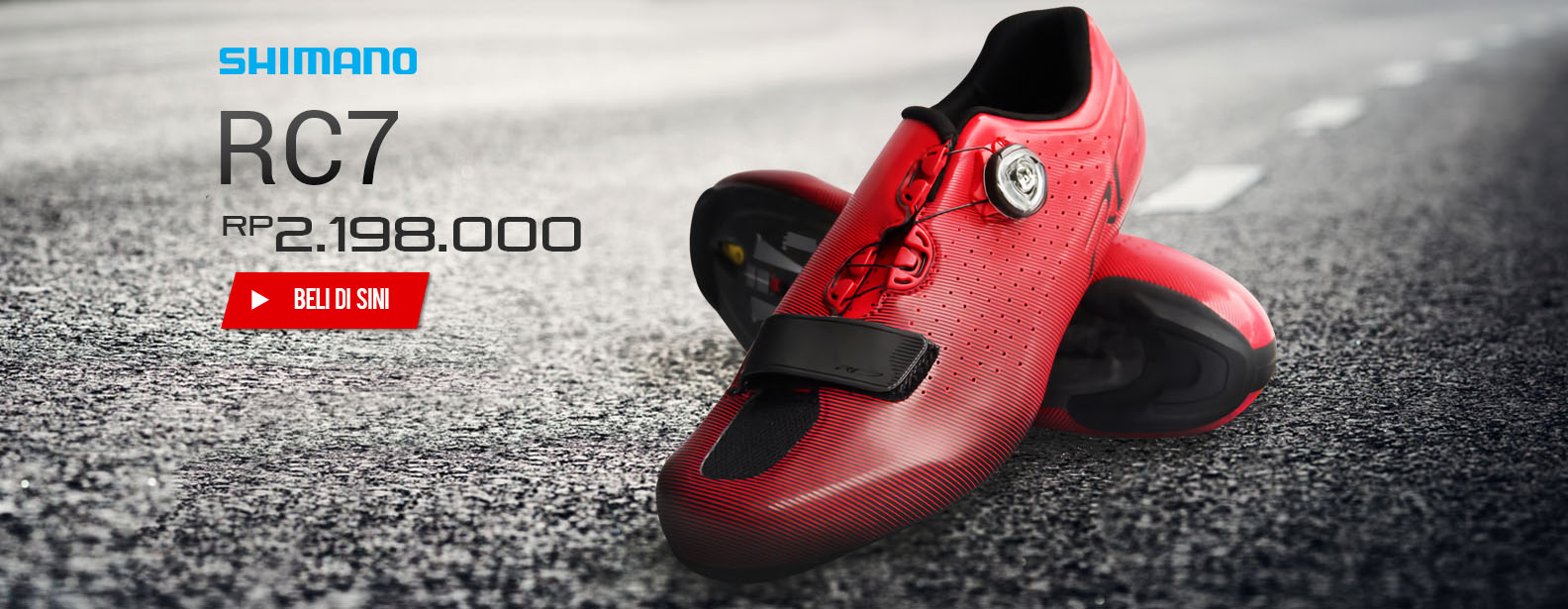 Shimano Sepatu Sepeda Road Competition RC7 Wide Fit
