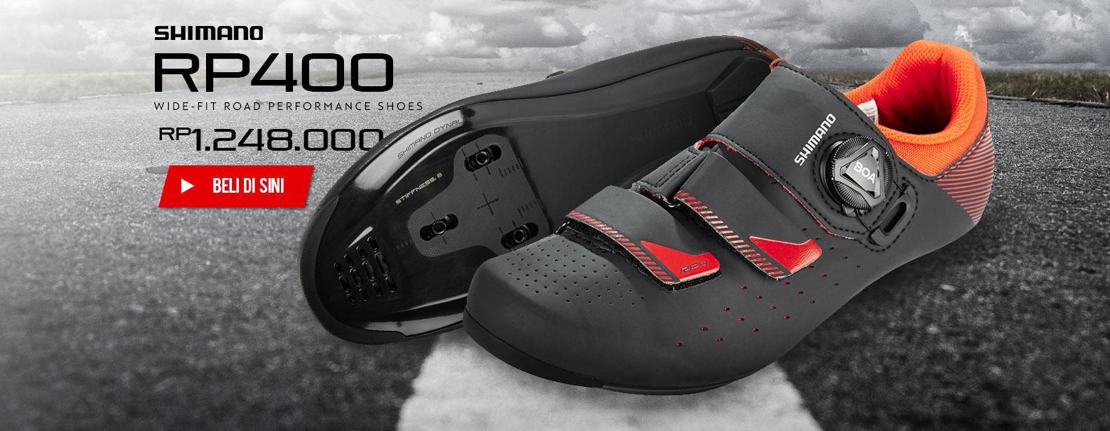 Shimano Sepatu Sepeda RP400 Wide Fit Road Performance