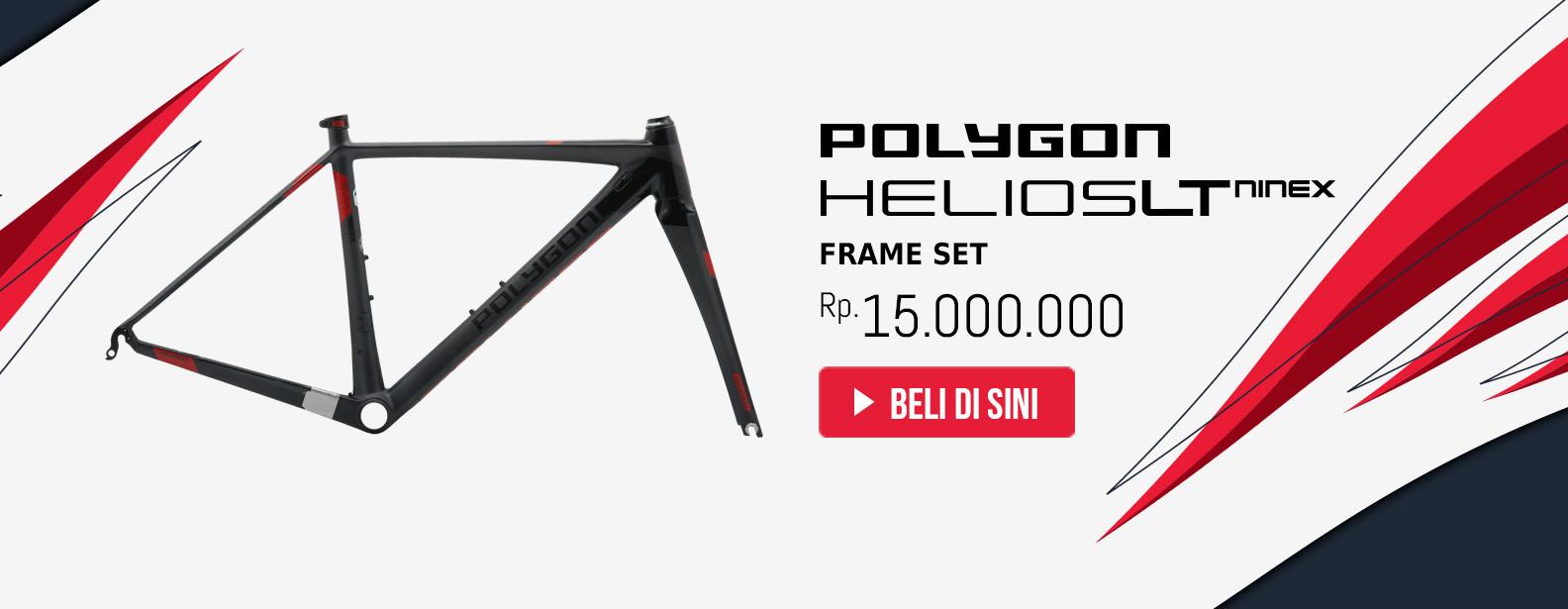 Polygon Frame Set Sepeda Helios LT9X