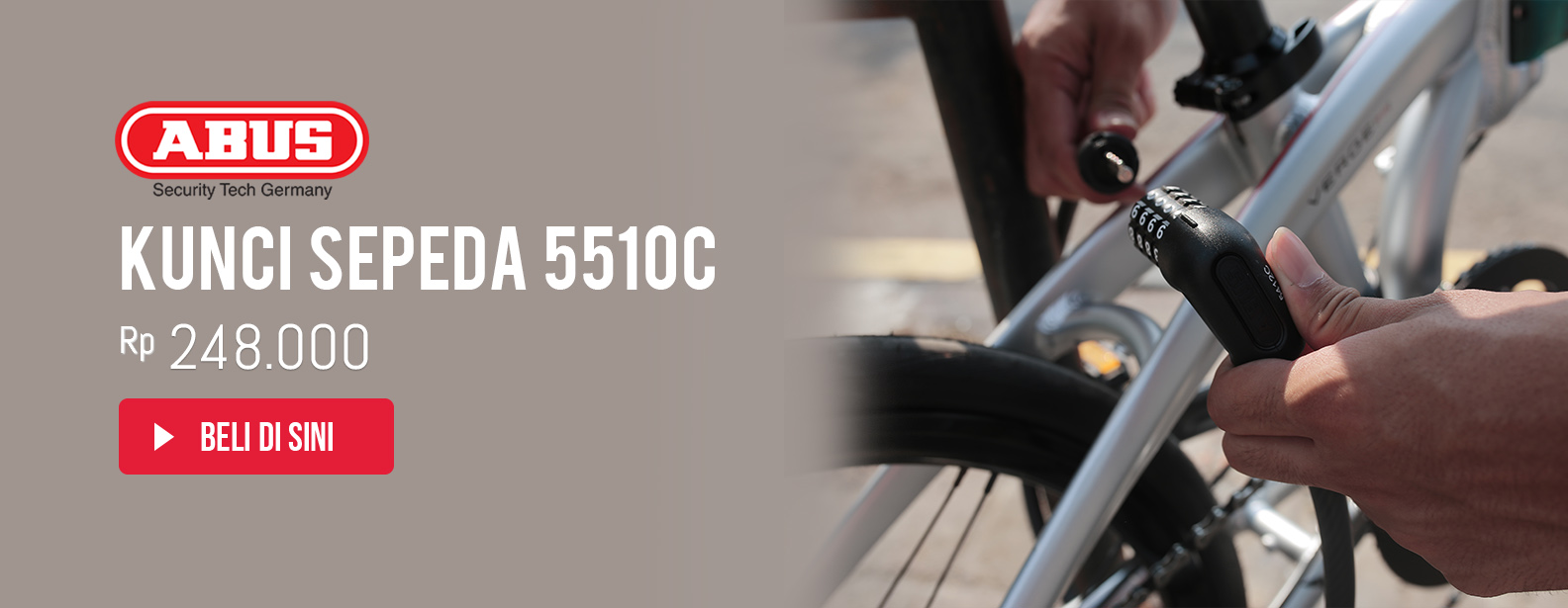 Abus Kunci Sepeda 5510C