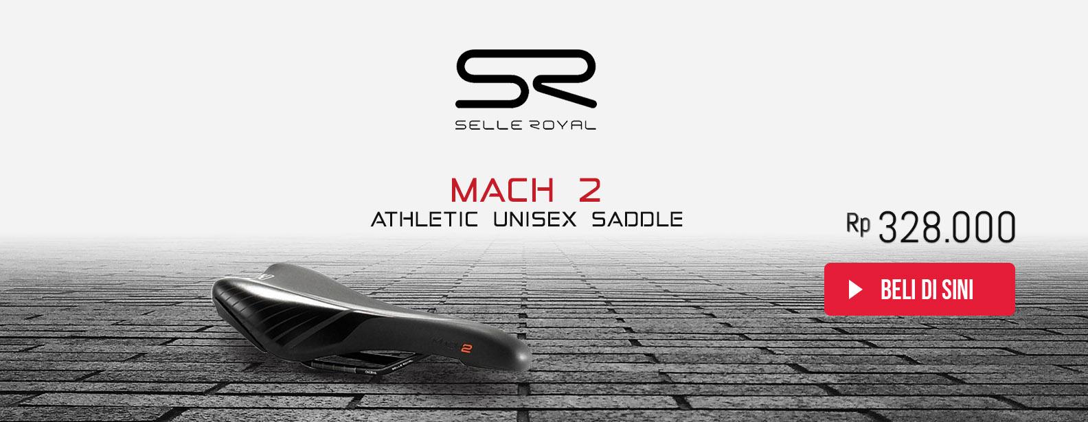 Selle Royal Sadel Sepeda Mach 2 Athletic Unisex