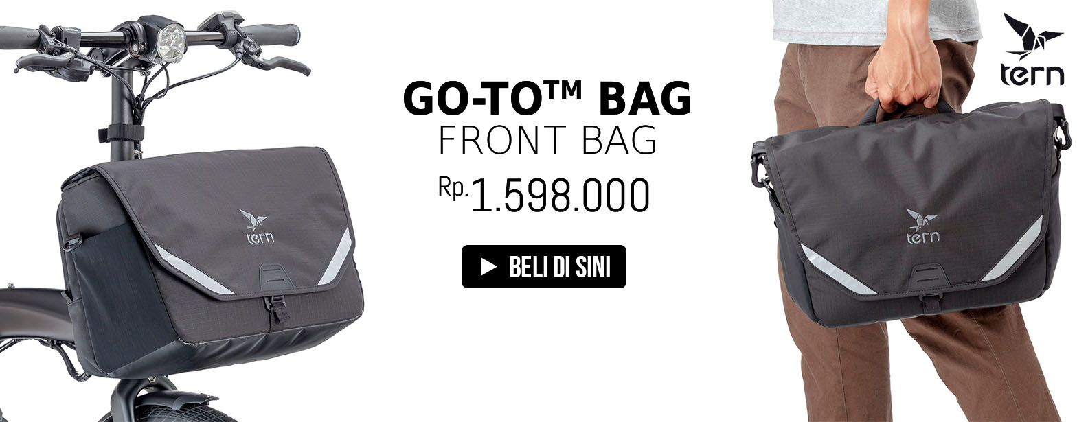 Tern Front Bag Sepeda Go To Bag for Luggage Truss