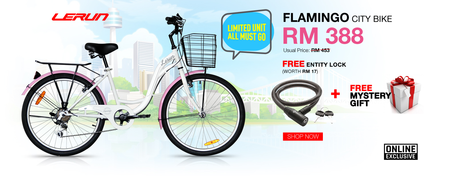 Lerun Flamingo promotion