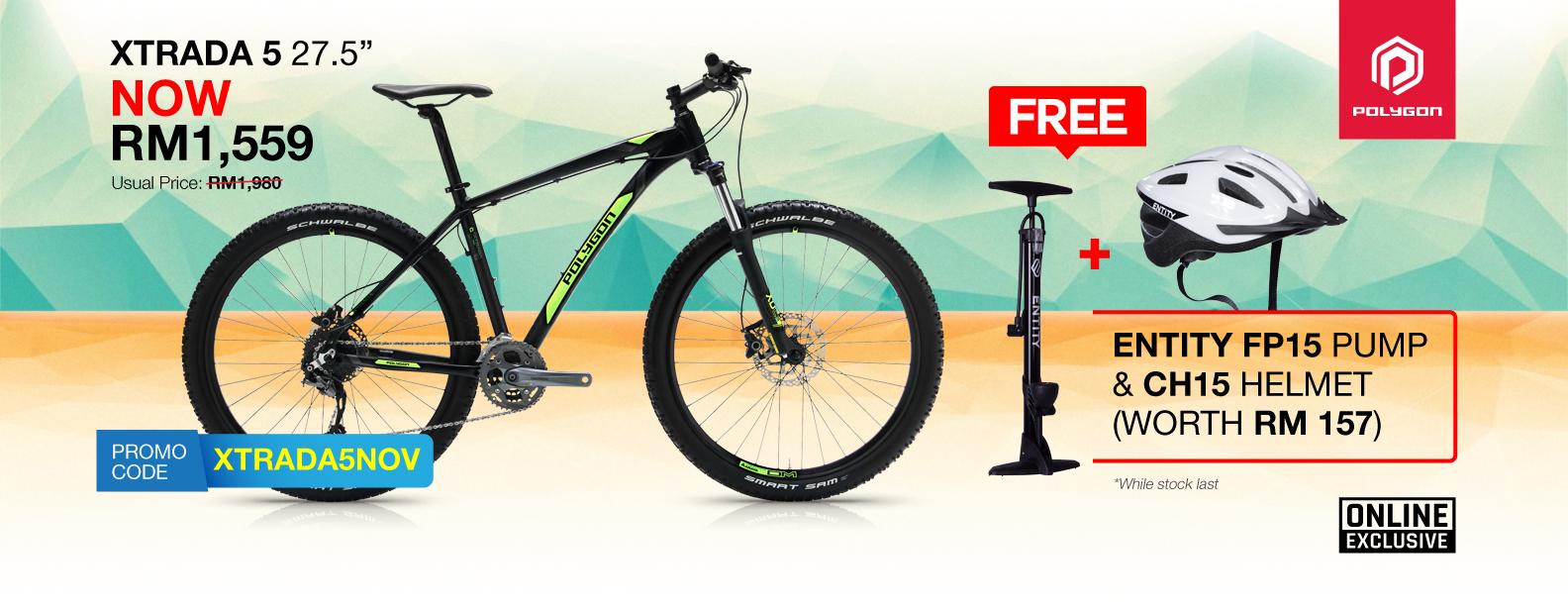 Polygon Xtrada 5 Bike Free Gift Promotion
