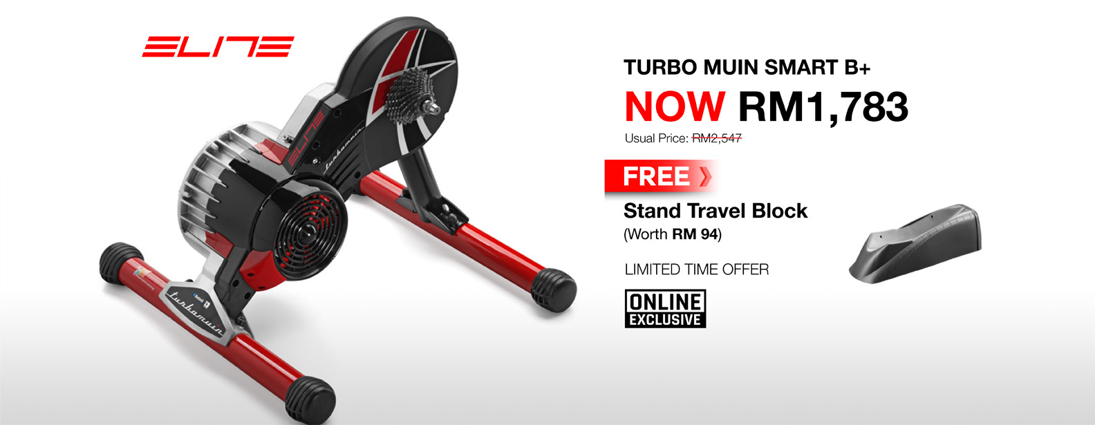 MY Buy Elite Turbo Muin Smart B+ Trainer Free Stand Travel Block