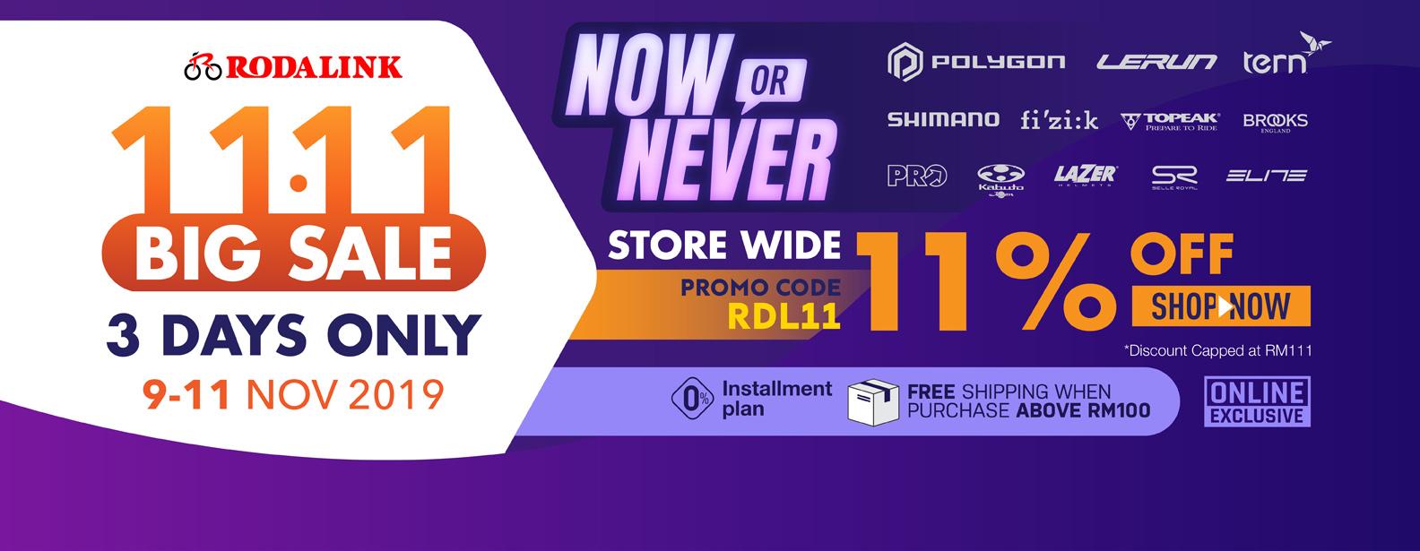 11.11 Big sale