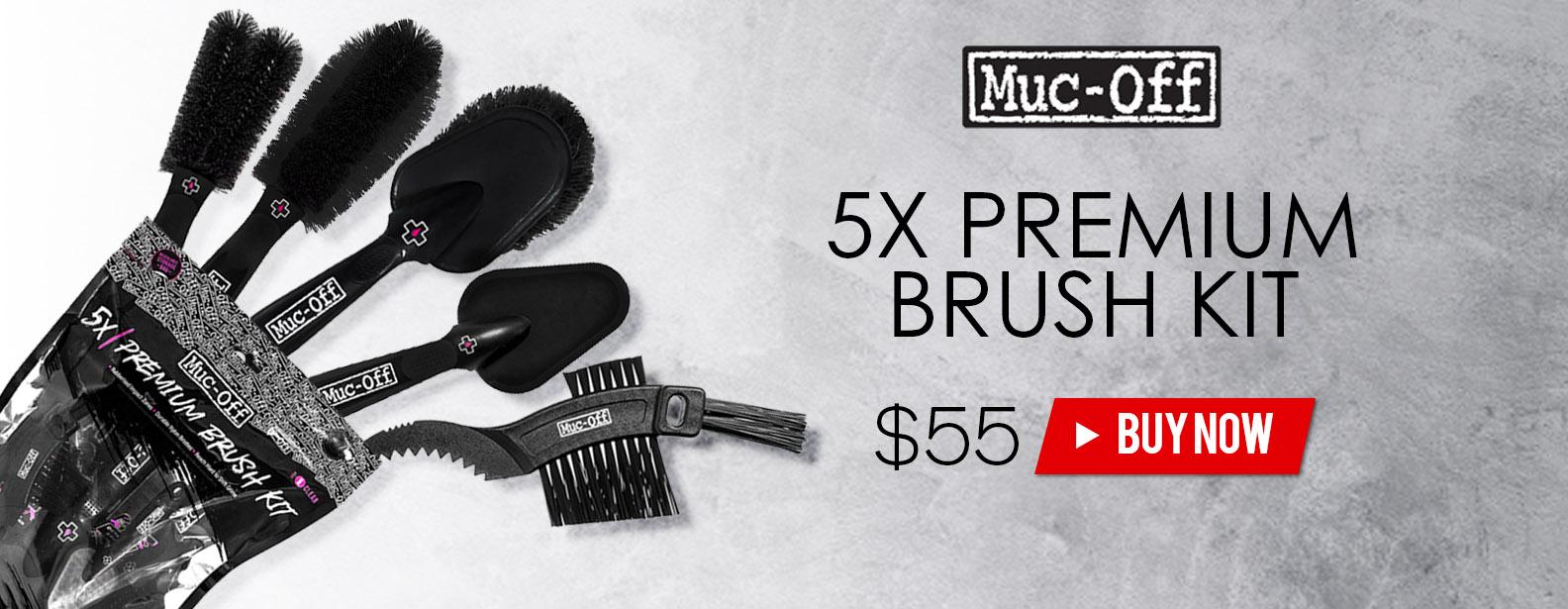Muc-Off 5x Premium Brush Kit