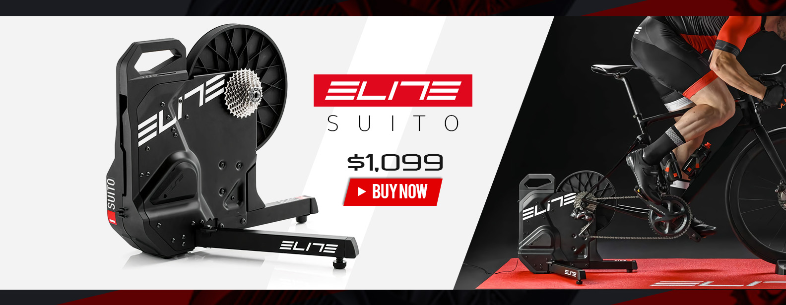 Elite Suito Bike Trainer with Riser Block