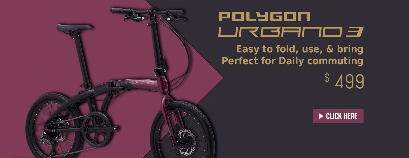 Buy Polygon Urbano 3 Folding Bike