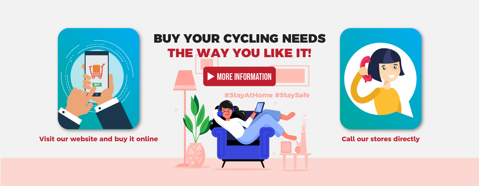Buy Your Cycling Needs The Way You Like It!